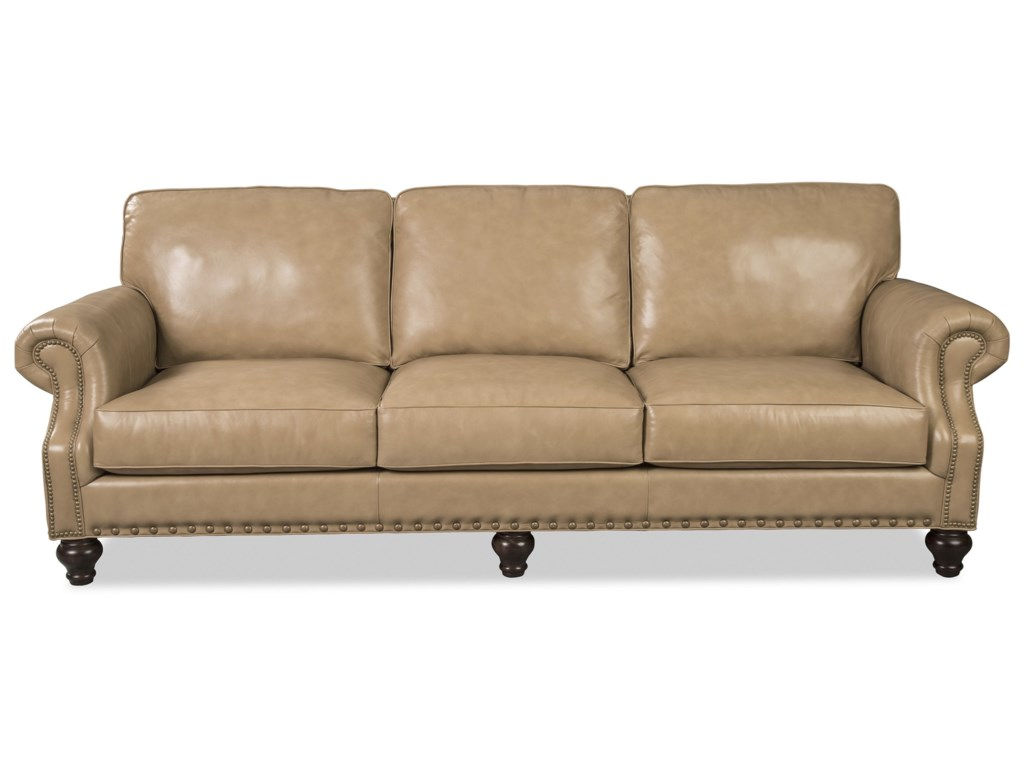 Craftmaster L762350 L762350BD Traditional Leather Sofa with ...