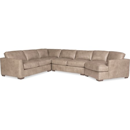 5-Seat Sectional Sofa with RAF Cuddler