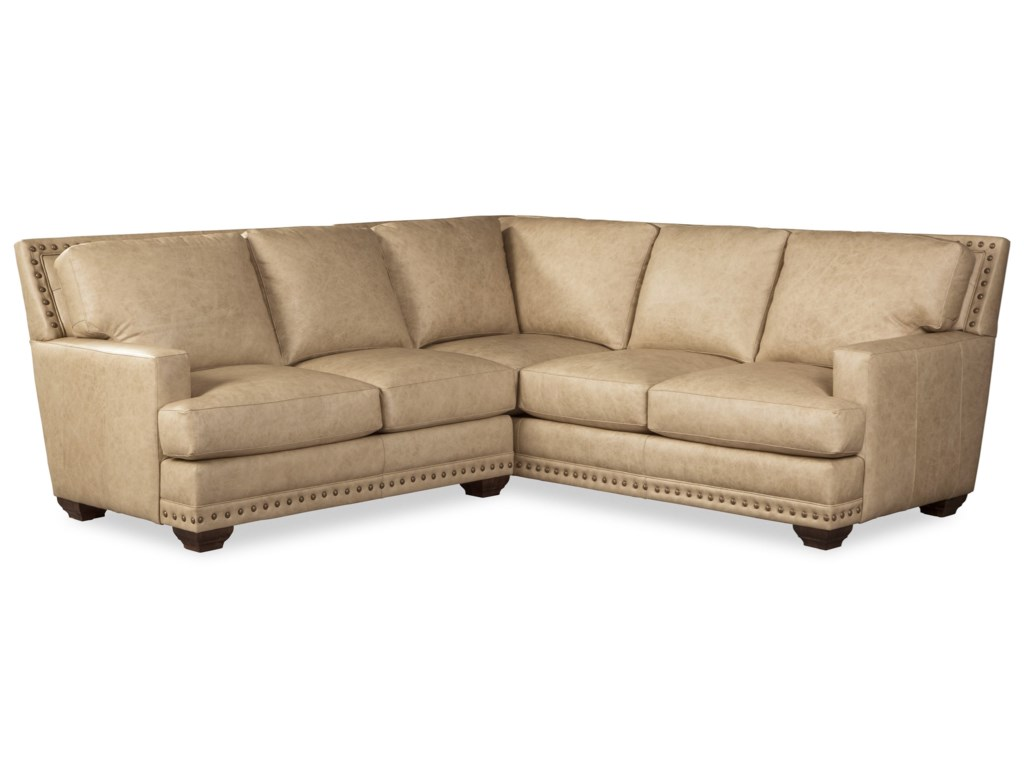 Craftmaster L793651 Transitional 4-Seat Leather Sectional ...