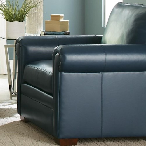 Craftmaster L9 Custom - Design Options Customizable Leather Chair with Rolled Panel Arms