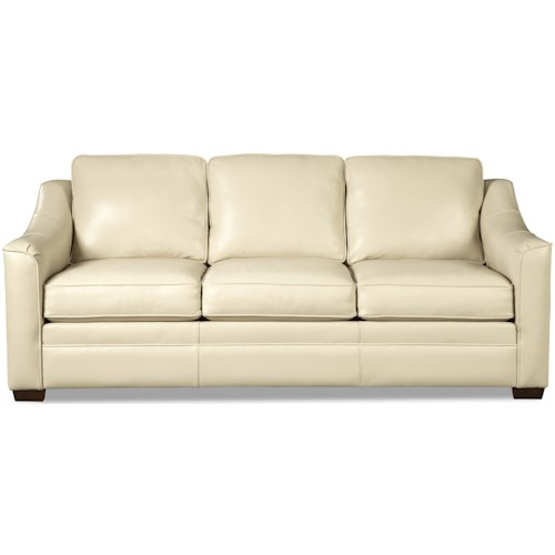 Craftmaster L9 Custom - Design Options Customizable Leather 3 Seat Sofa wtih Crescent Arms