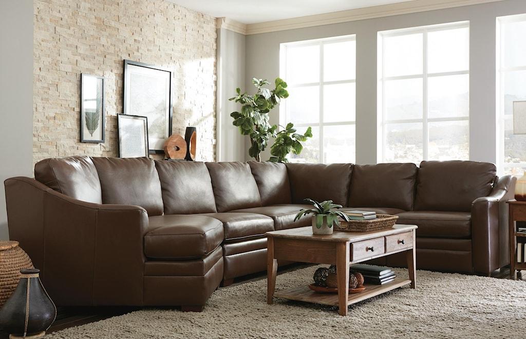 Craftmaster l9 custom design options3 pc sectional sofa w power recliner