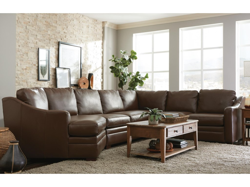 Craftmaster L9 Custom - Design Options3 Pc Sectional Sofa w/ Power Recliner