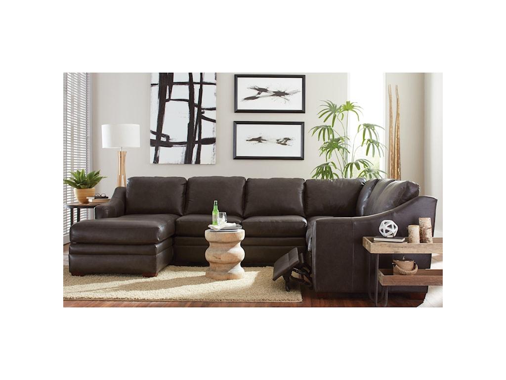 Craftmaster L9 Custom - Design OptionsCustom 3 Pc Sectional Sofa w/ Power Recliner