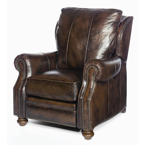 Craftmaster Leather Recliners and Ottomans Traditional Leather Recliner