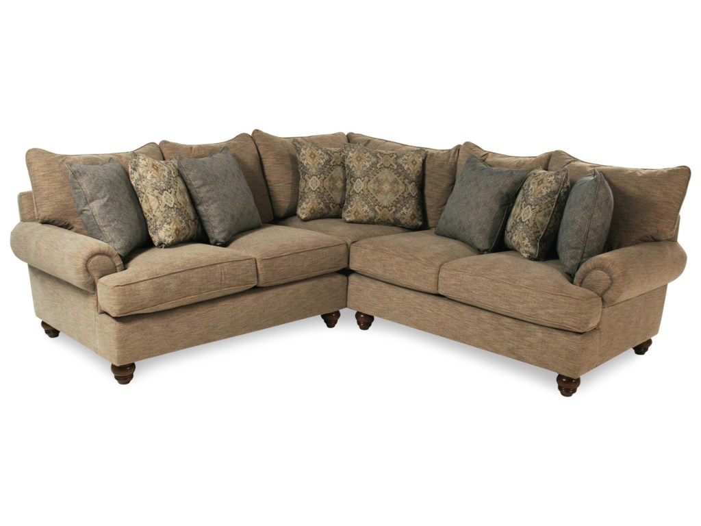 Samantha 2pc Sectional Sofa By Cozy Life