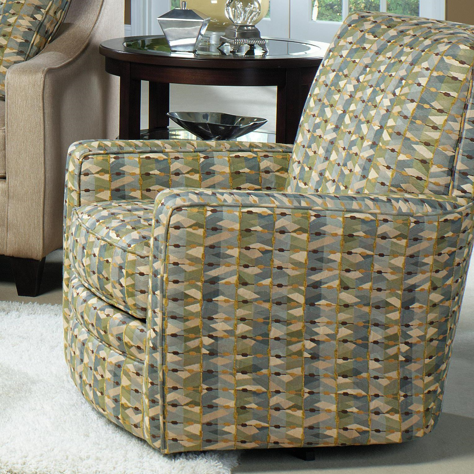 Craftmaster Swivel Chairs Contemporary Upholstered Swivel Glider With Track  Arms