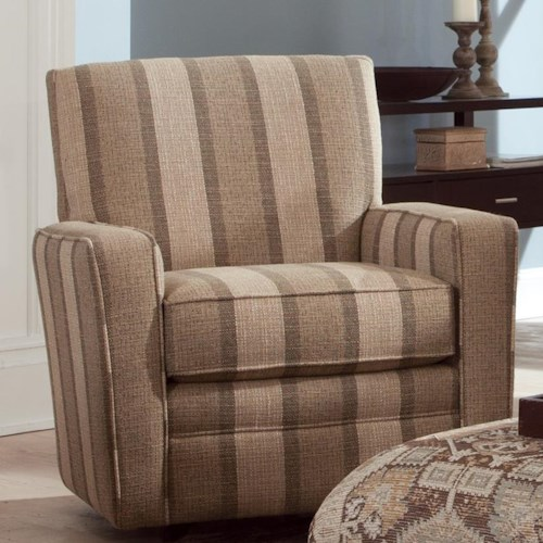 Craftmaster Swivel Chairs Contemporary Upholstered Swivel Chair with Track Arms