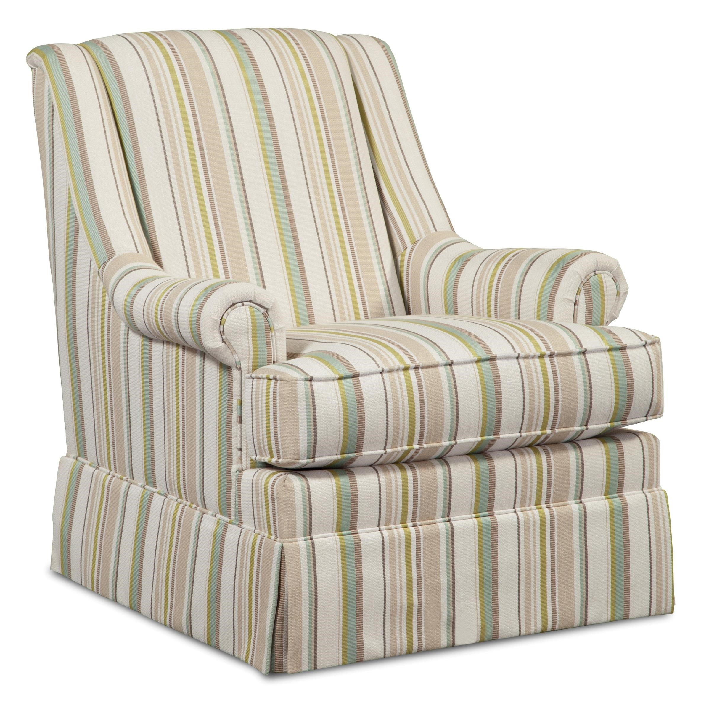 Hickory Craft Swivel Chairs Skirted Swivel Glider Chair With Rolled Panel  Arms