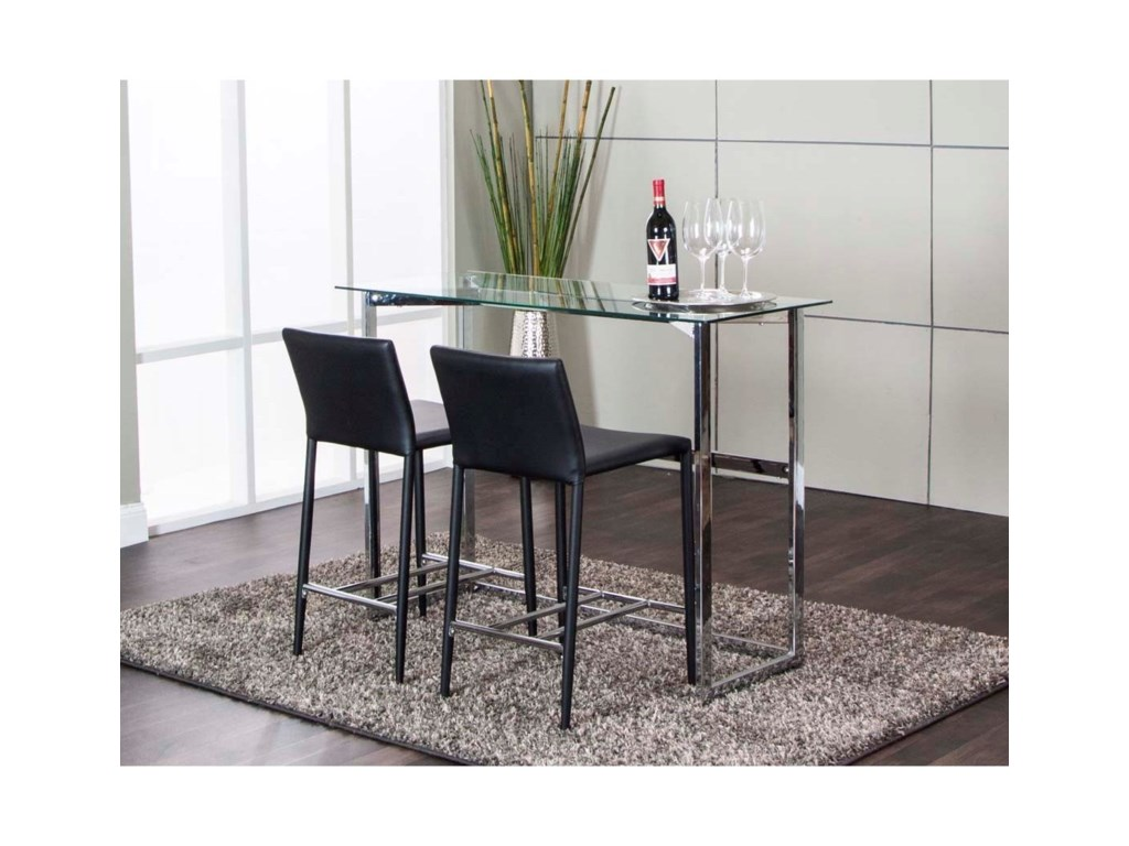 Cramco, Inc Abbott3-Piece Counter Height Table and Chair Set