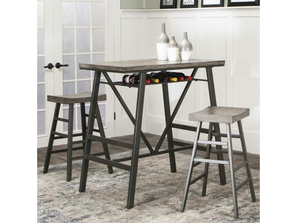 Cramco, Inc AscotPub Table and Barstool Set