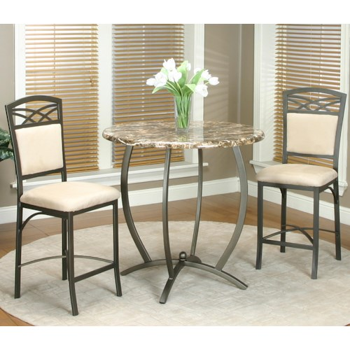 Cramco, Inc Atlas 3 Piece Counter Table and Stool Set