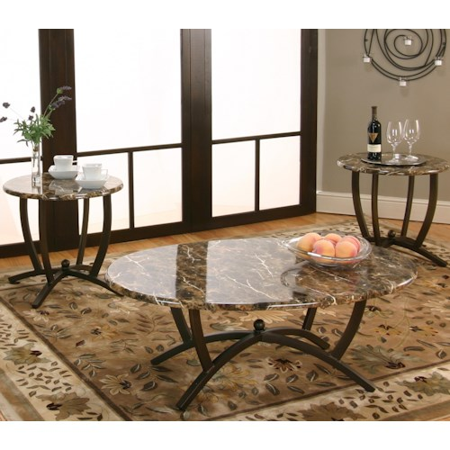 Cramco, Inc Atlas  3 Pack Occasional Tables w/ Cocktail Table and 2 End Tables
