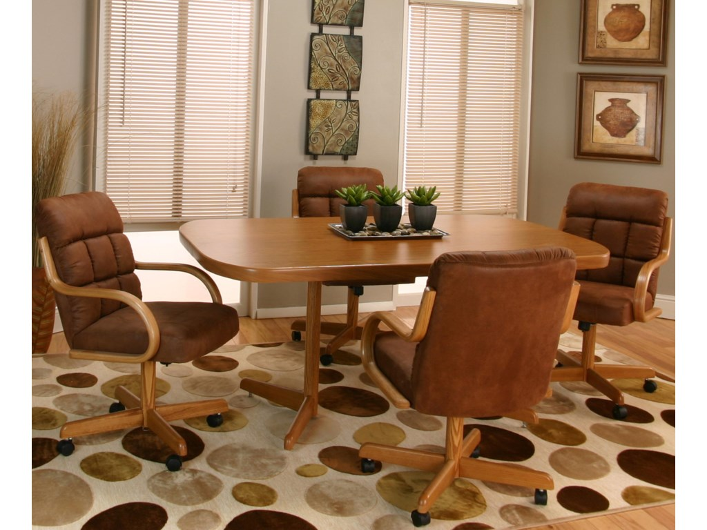 Cramco, Inc Cramco Motion - AtwoodSunset Oak Table and Chair Set