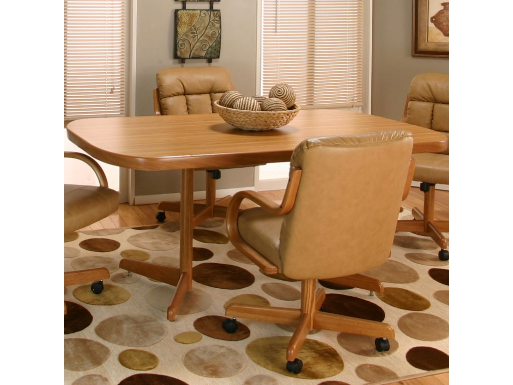 Cramco, Inc Cramco Motion - AtwoodBow-End Rustic Oak Laminate Table