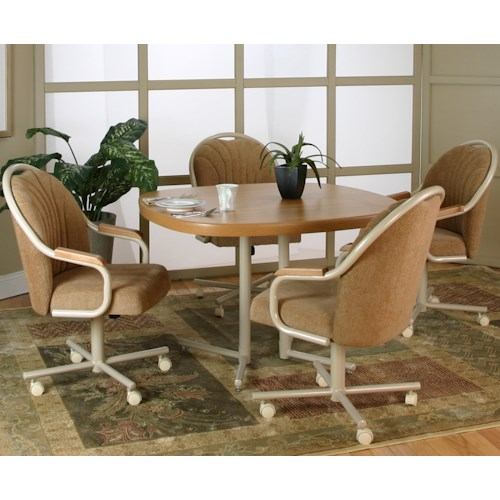 Cramco, Inc Blair 5 Piece Dining Table and Motion Chairs