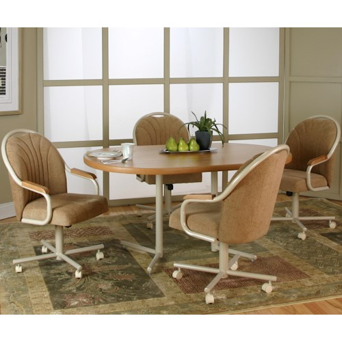 Cramco, Inc Blair 5 Piece Dining Table and Motion Chair Set