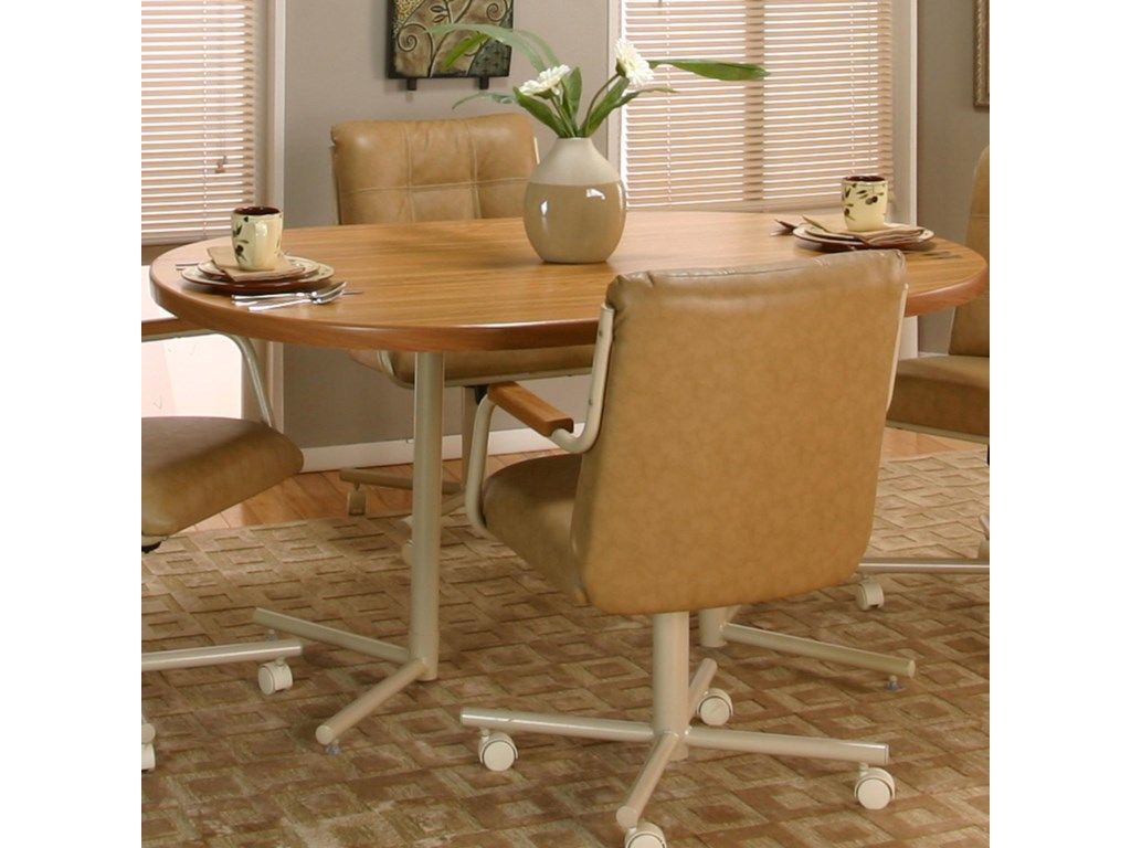 Cramco, Inc Cramco Motion - Carter Oval Rustic Oak Laminate Table Top