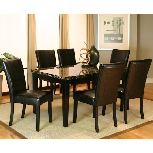 Cramco, Inc Chatham 7 Piece Dining Leg Table and Side Chair Set