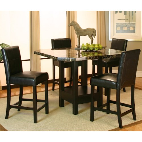 Cramco, Inc Chatham 5 Piece Pub Table and Stool Set