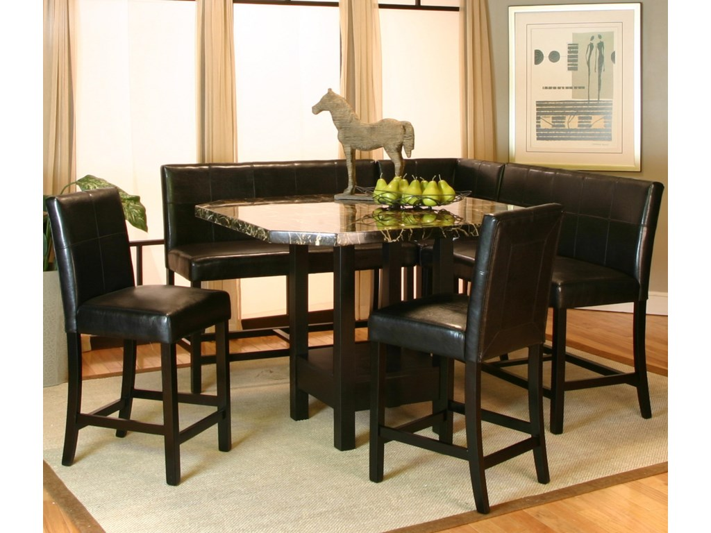 Shown with Counter Stools, Corner Stool and Bench