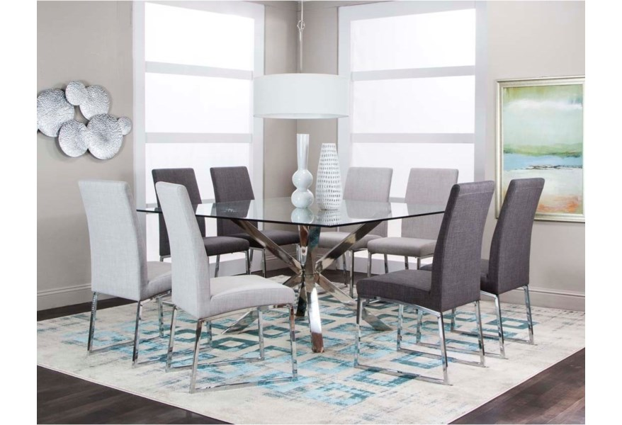 Cramco Inc Classic 59 Square Glass Dining Table Value City Furniture Dining Tables