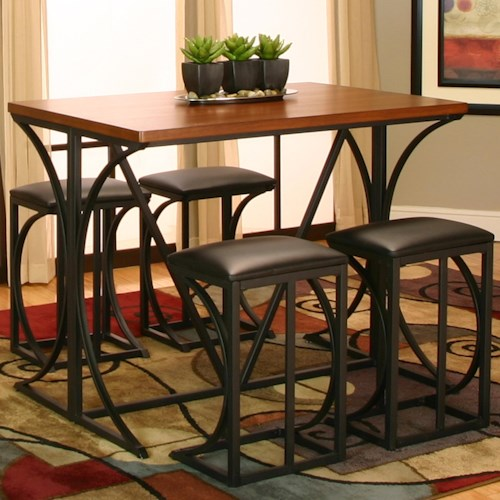 Cramco, Inc Conner 5 Piece Pub and Stool Set