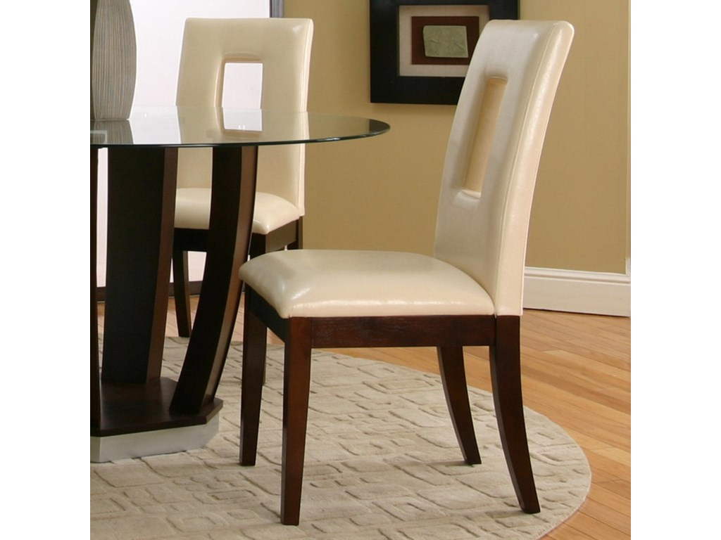Cramco, Inc Contemporary Design - EmersonIvory Vinyl Cut-Out Back Parson's Chair