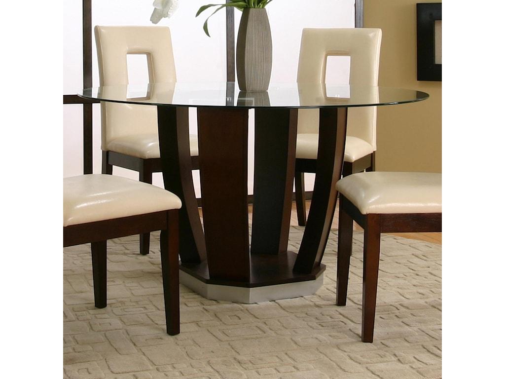 Cramco, Inc Contemporary Design - EmersonRound Tempered Glass Table