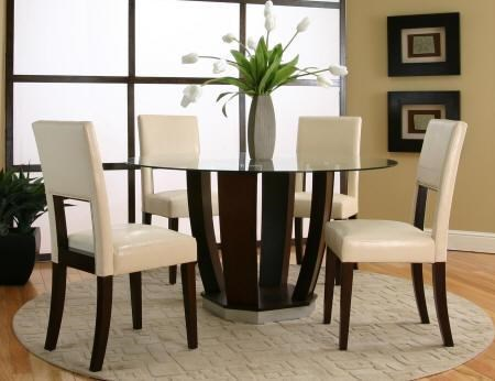 Shown as Part of 5 Piece Table Set with Square Back Chairs
