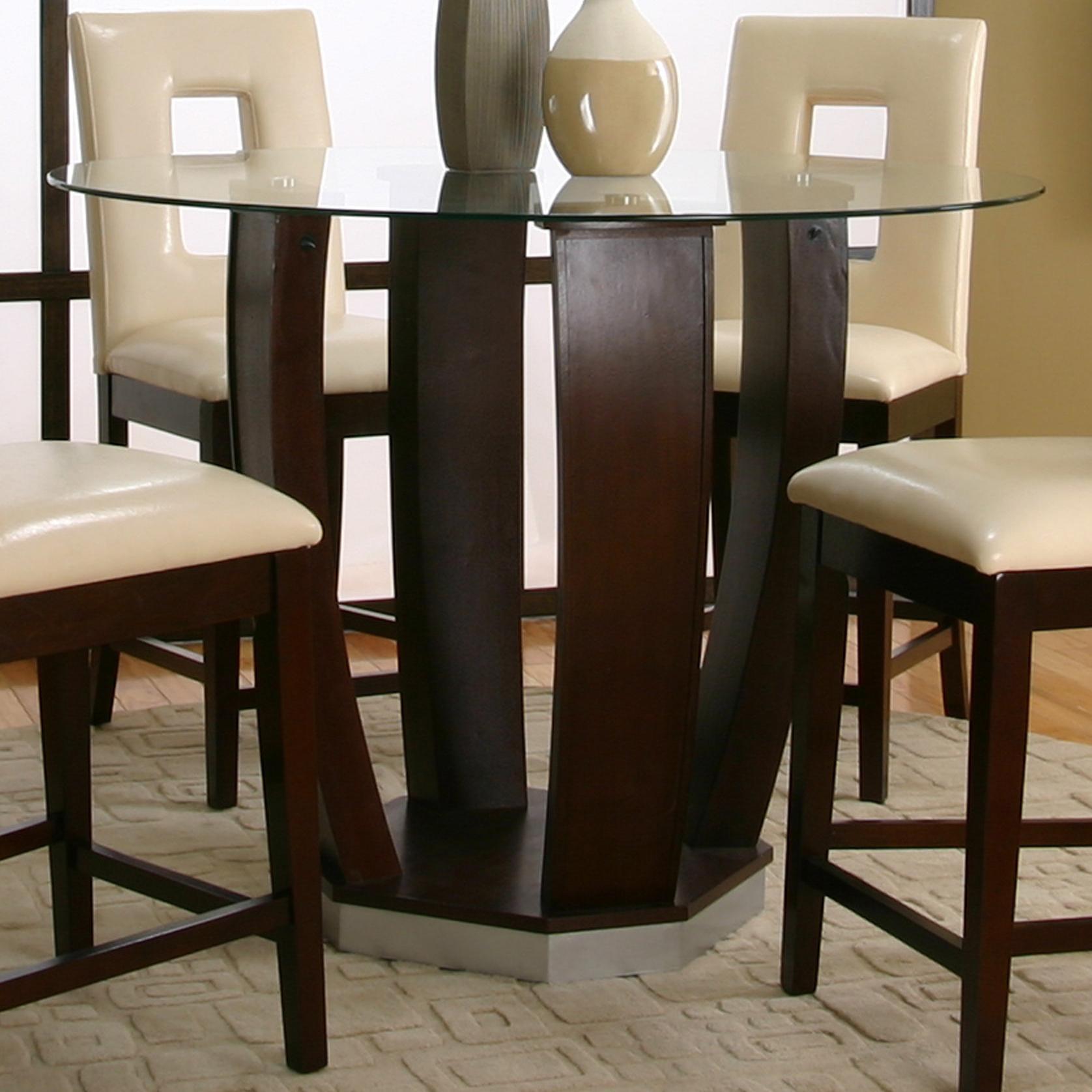 Cramco, Inc Contemporary Design   EmersonRound Tempered Glass Pub Table ...