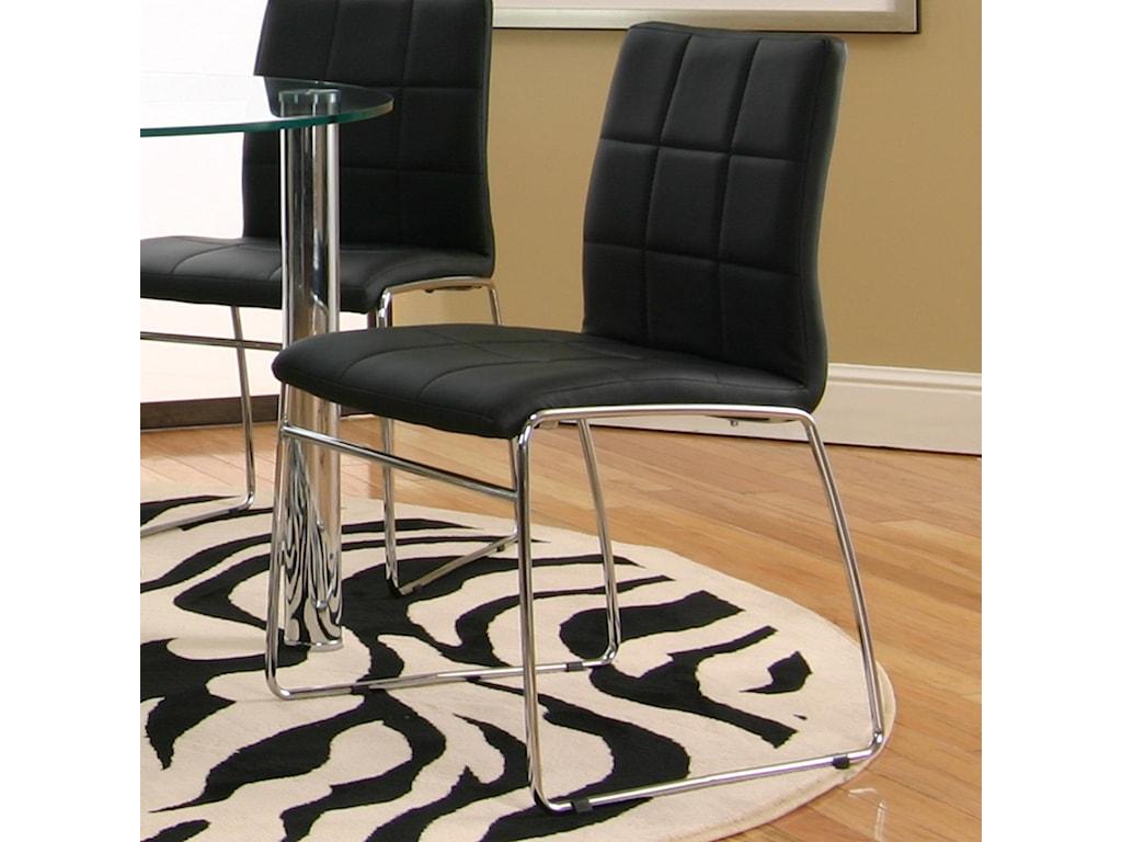 Cramco, Inc Contemporary Design - NapoliBlack Polyurethane Sled Side Chair