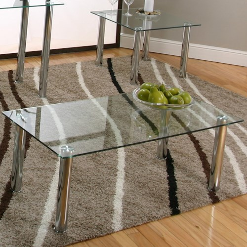 Cramco, Inc Contemporary Design - Napoli Coffee Table w/ Glass Top