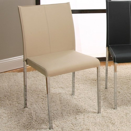Cramco, Inc Contemporary Designs - Corona Chrome Stack Chair w/ Upholstery