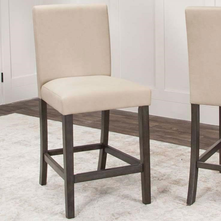 Cramco Inc Cougar 2 Counter Height Stools With Upholstered Seats