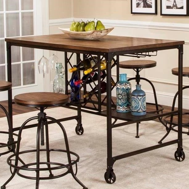 Cramco, Inc Craft Counter Height Metal And Wood Pub Table | Royal Furniture  | Pub Tables