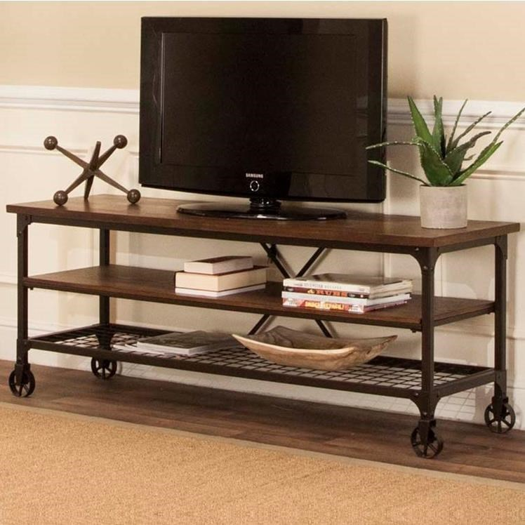 Cramco Inc Craft Industrial Tv Stand With Open Shelves Value City
