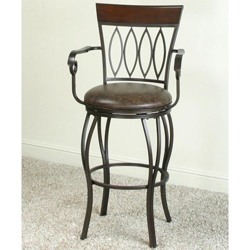 Cramco Inc Cramco Dining 30 Bar Stool W Arms Value City Furniture Bar Stools