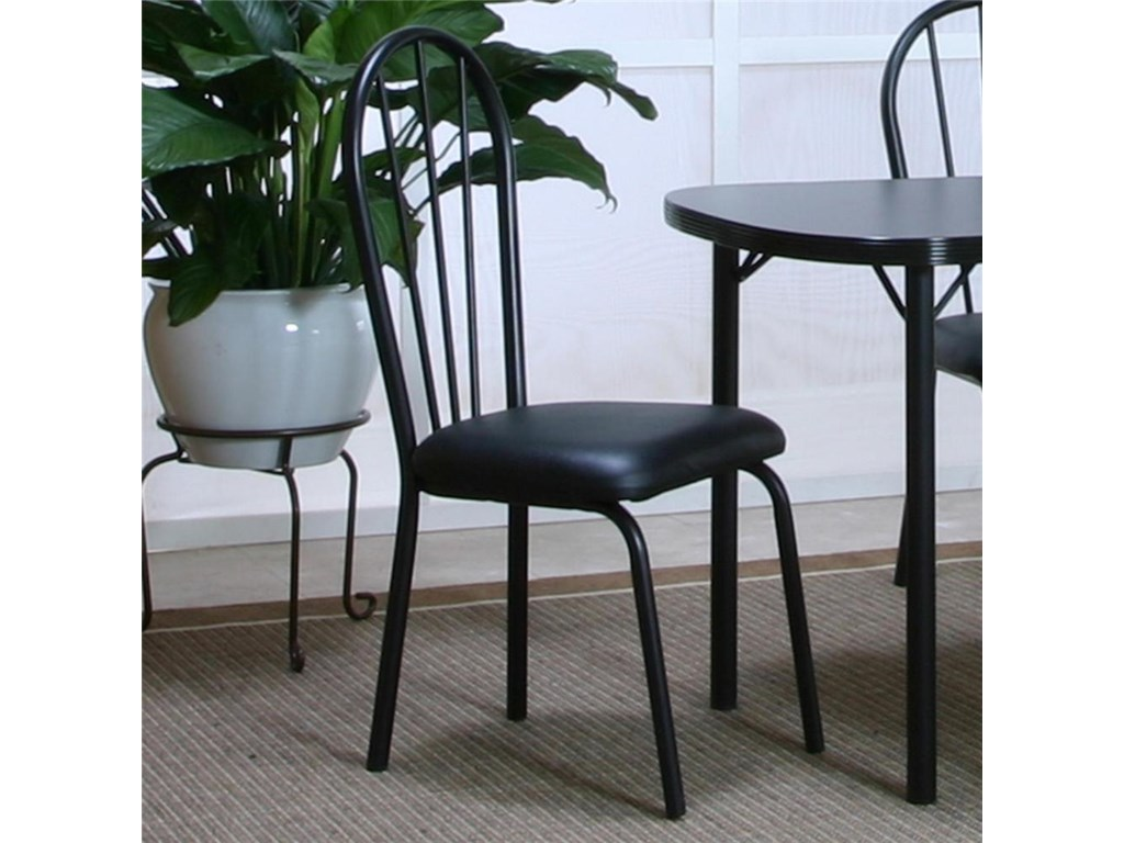 Cramco, Inc Cramco Dinettes - EbonyVinyl Side Chair