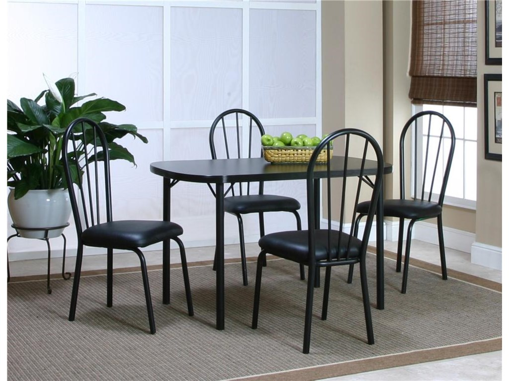Shown with Black Texture/Black Vinyl Side Chair