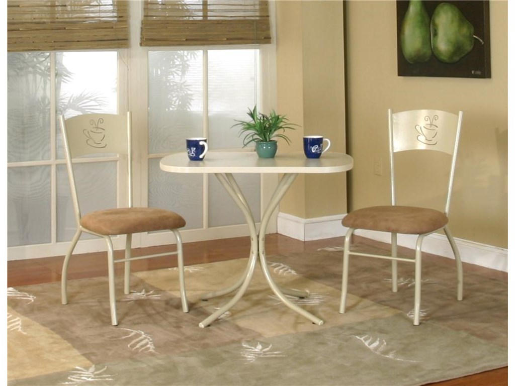 Cramco, Inc Cramco Dinettes - MochaLaminate Table with Chairs