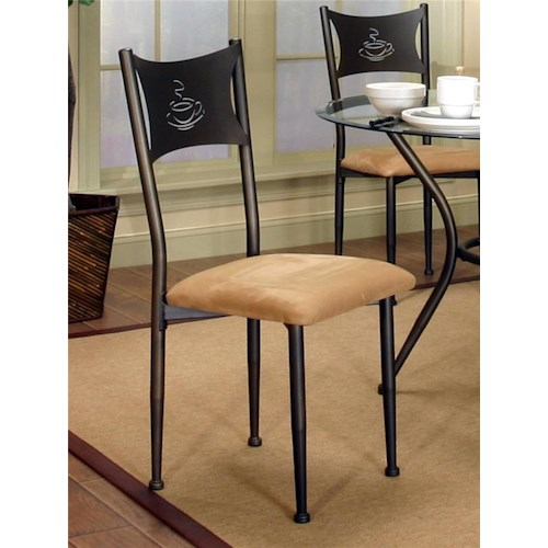 Cramco, Inc Cramco Trading Company - Maxwell Antique Bronze/Tan Microsuede Side Chair