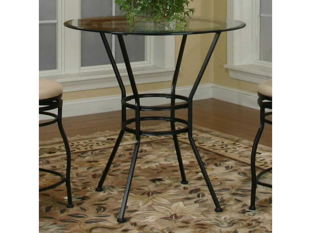 Cramco, Inc Cramco Trading Company - StarlingRound Glass Pub Table