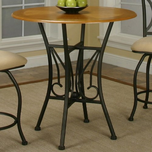 Cramco, Inc Cramco Trading Company - Dart Round Oak Veneer Wood Top Counter Height Table