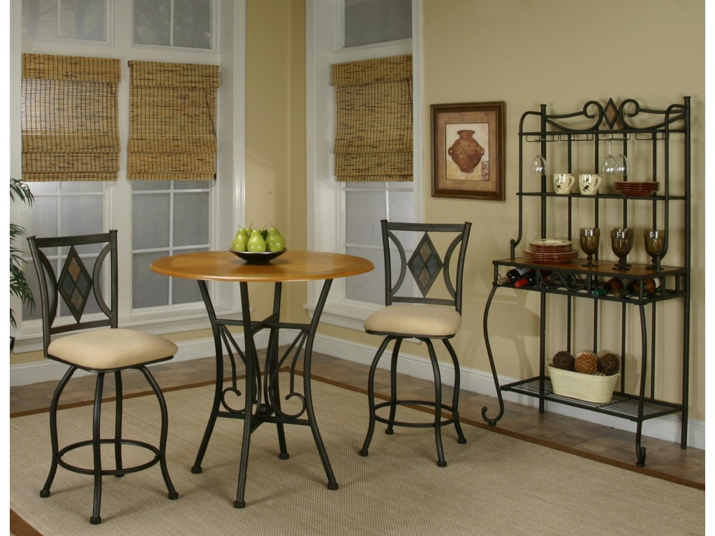 Shown with Counter Stools and Baker's Rack