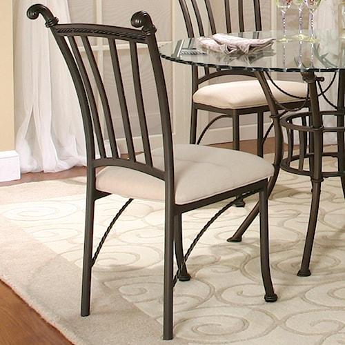 Cramco, Inc Denali Molten Earth/Stone Microsuede Side Chair
