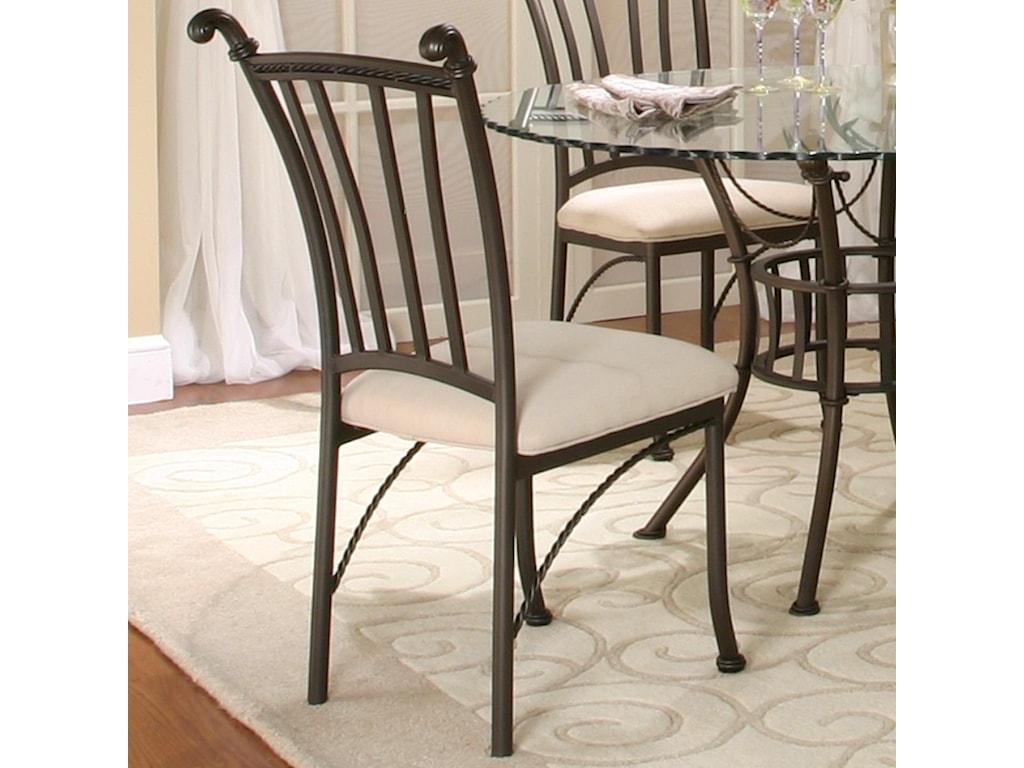 Cramco, Inc DenaliMolten Earth/Stone Microsuede Side Chair