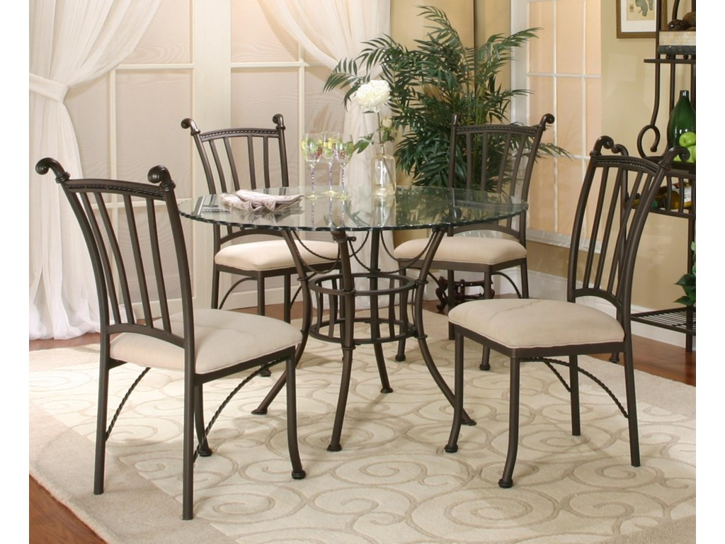 watch 05d56 d706f Denali 5 Piece Round Glass Table with Chairs by Cramco, Inc at Value City  Furniture