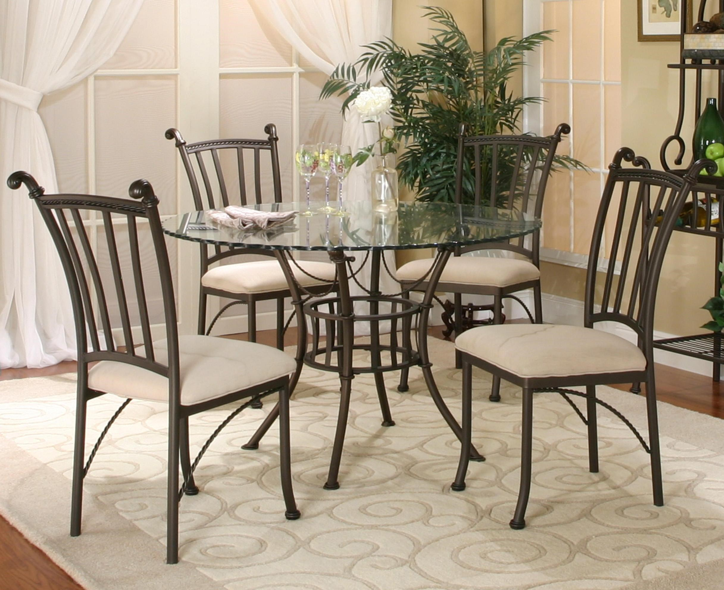 Merveilleux Cramco, Inc Denali5 Piece Round Glass Table With Chairs ...