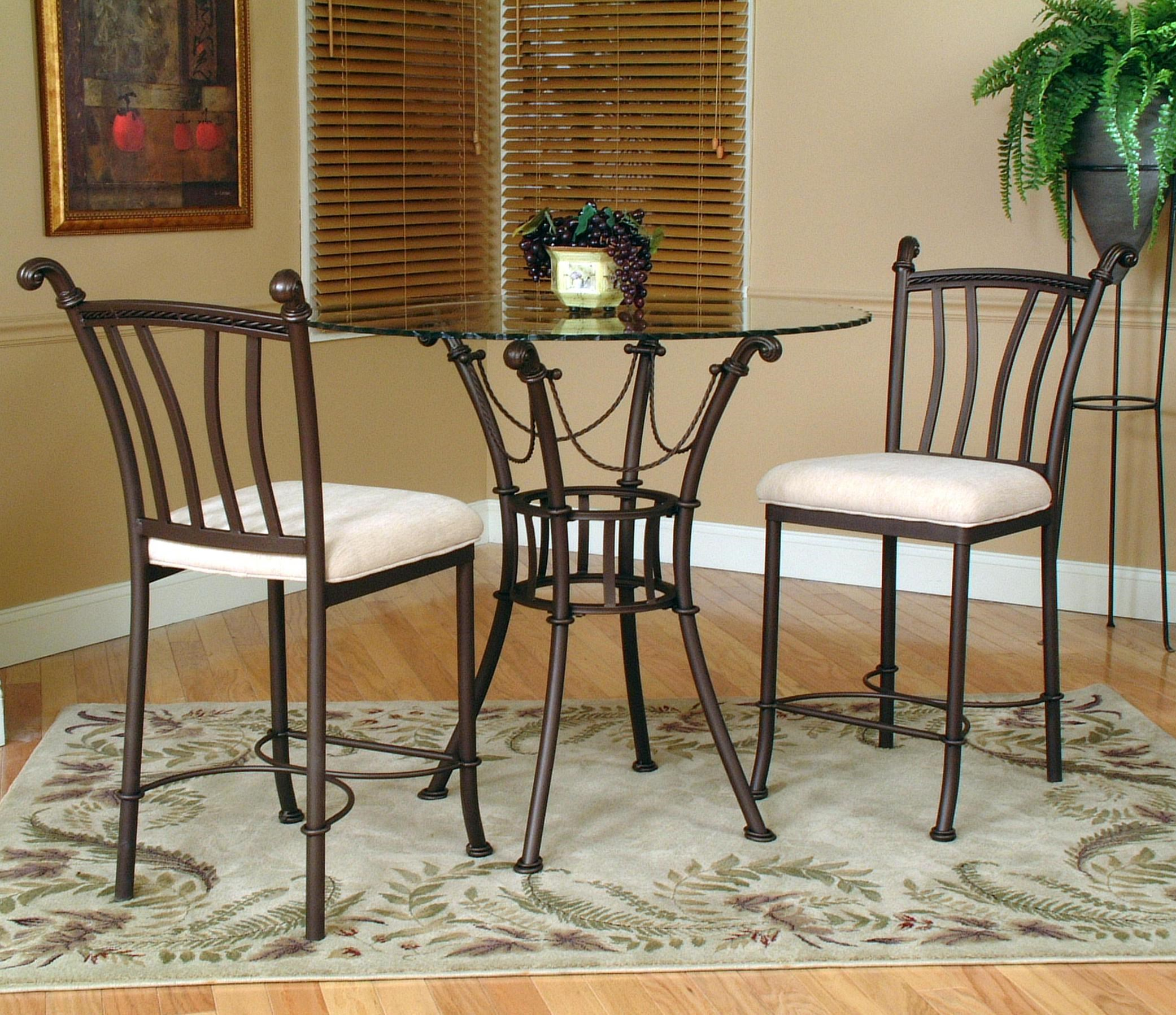 Cramco, Inc Denali3 Piece Counter Height Glass Table And Chair ...